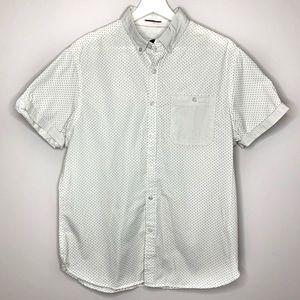 MEN'S DENIM & FLOWER Slim Fit Short Sleeves Shirt